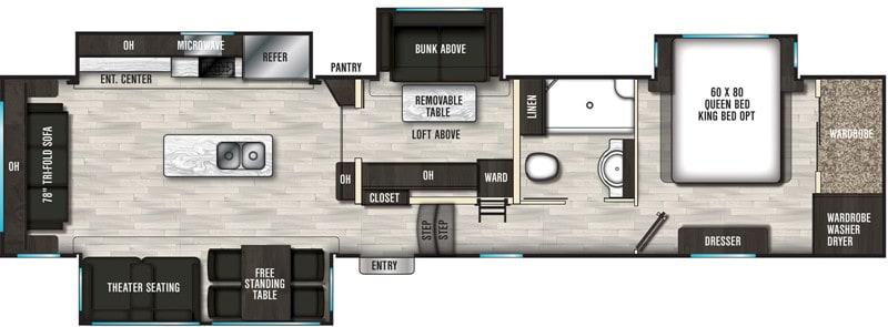 2020 Brookstone 398MBL floor plan
