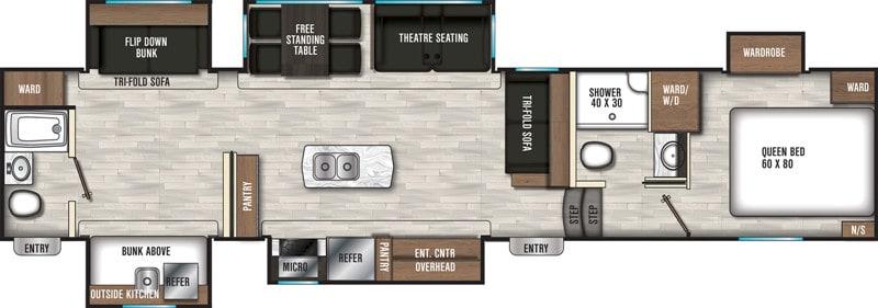2020 COACHMEN CHAPARRAL 367BH floor plan