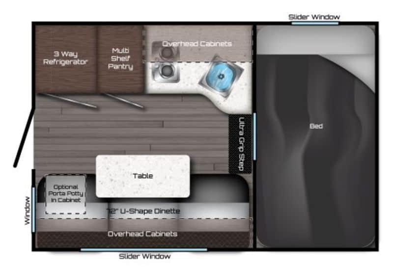 2021 Travel Lite 625SL floor plan